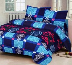 Get 75% off on Red Bear 144 TC Polycotton Double Floral Bedsheet