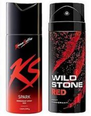 Buy Wildstone KamasutraDeodorant Spray Combo Set (pack of 2 Pcs)-150 ml each (Mix varriants) for Rs. 199