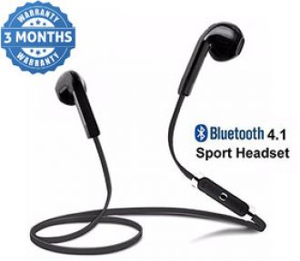 Flat 65% off on Wireless Bluetooth In the Ear V4.1 Stereo Headset with Mic Noise Cancelling Sweatproof Sports (Multicolour)