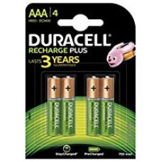 Buy Duracell AAA 750mAh Rechargeable Batteries - Pack of 4 from Amazon