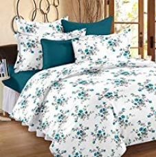Flat 25% off on Ahmedabad Cotton Comfort 160 TC Cotton Bedsheet with 2 Pillow...