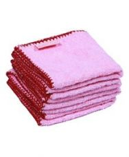 Get 42% off on Mumma's Touch Organic Bamboo Baby Wash Towel Set of 4 Small - Pink...