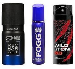 Buy Pack of 3 Men's Deodorants AXE Midnight Fogg Royal Wildstone-Any Variant from ShopClues