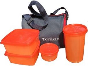 Buy Topware Plastic Lunch Box Orange No. of Pieces 4 for Rs. 199