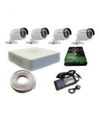 Buy Hikvision 4 Channel CCTV Camera Kit  500 GB hard disk/DVR/ 90 mtr cable from SnapDeal