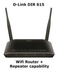Buy D-Link DIR-615 Wireless-N300 Wifi Router (Black, Not a Modem) from SnapDeal