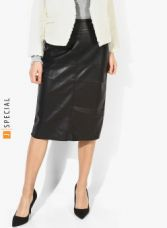 Buy DOROTHY PERKINS Black Solid Pencil Skirt from Jabong