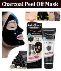 Flat 75% off on Charcoal Peel Off Mask Anti Acne Oil Control Deep Cleansing Blackhead Remover Face Masks for Men & Women, 130g