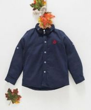 Get 45% off on Zy Baby Solid Full Sleeves Shirt With Bow - Blue