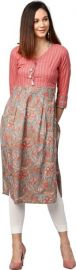 Jaipur Kurti Women Floral Print Straight Kurta for Rs. 729