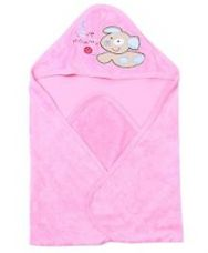 Buy Doreme Hooded Towel Puppy Embroidery - Pink for Rs. 226