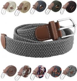 Buy Canvas Woven Leather Strechable Pin-Hole Buckle Belt up to 44 inches for Rs. 149