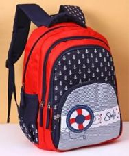 Buy Disney Steffi Love School Bag Anchor Print Blue Red - from FirstCry