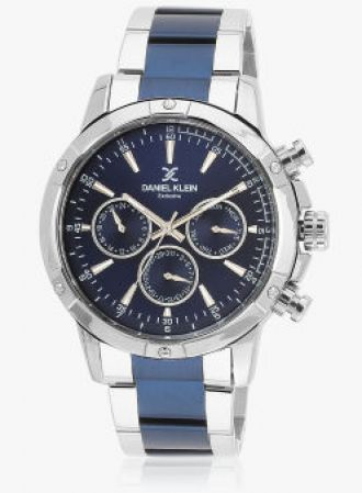 Buy Daniel Klein Dk10927-3 Two Tone /Blue Analog Watch from Jabong