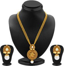 Flat 97% off on Sukkhi Gold Plated Multicolor Alloy Necklace Set For Women