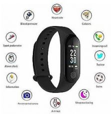 Buy M3 Black Health Fitness Band with Heart Rate Sensor, Pedometer and Sleep Monitoring from ShopClues