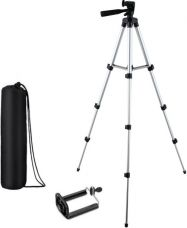 Flat 75% off on KBOOM Camera Tripod Stand With 3-Way Head Tripod for Digital Camera DV Camcorder, Tripod 3110 with mobile Phone holder mount Tripod